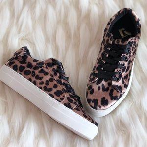 NEW REPORT aïoli leopard platform Velvet sneaker